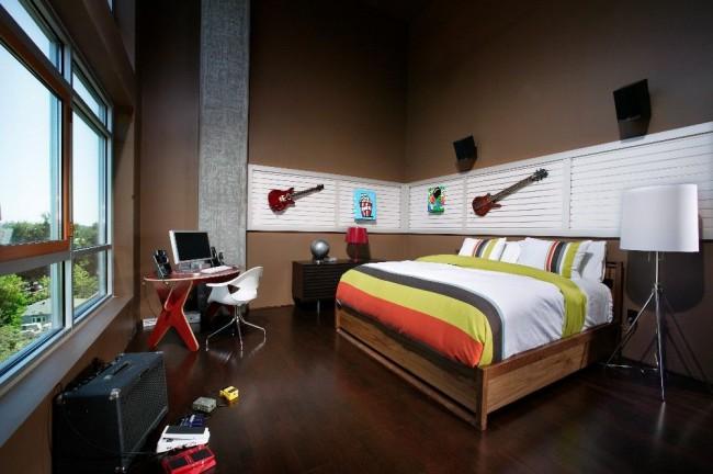 Combiner des éléments musicaux et des accessoires dans la chambre est également une bonne idée.