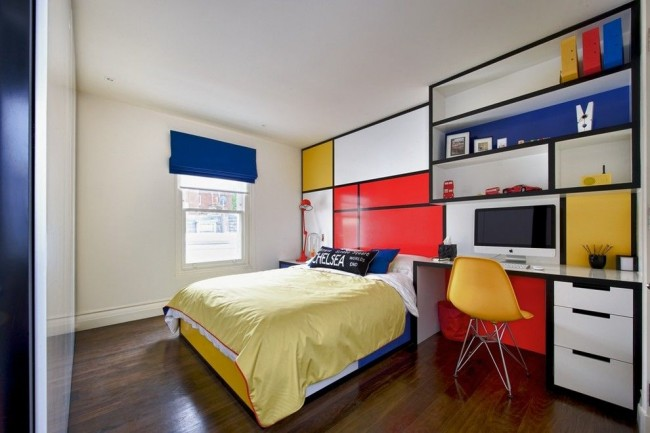 Pour éviter que la chambre de votre enfant ne soit ennuyeuse, ajoutez-y des points lumineux, par exemple des meubles clairs
