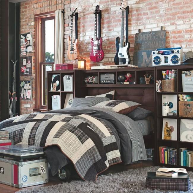 Une telle chambre fera clairement l'envie des amis de votre fils s'ils aiment le rock.