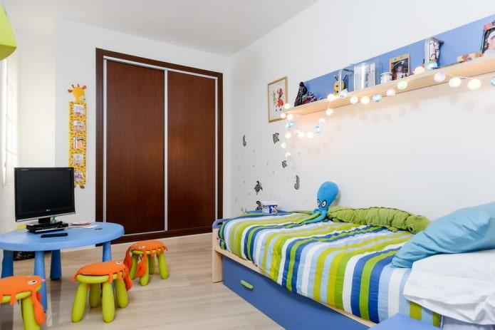 chambre d'enfants moderne d'un petit espace