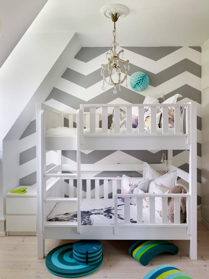 petit lit superposé blanc