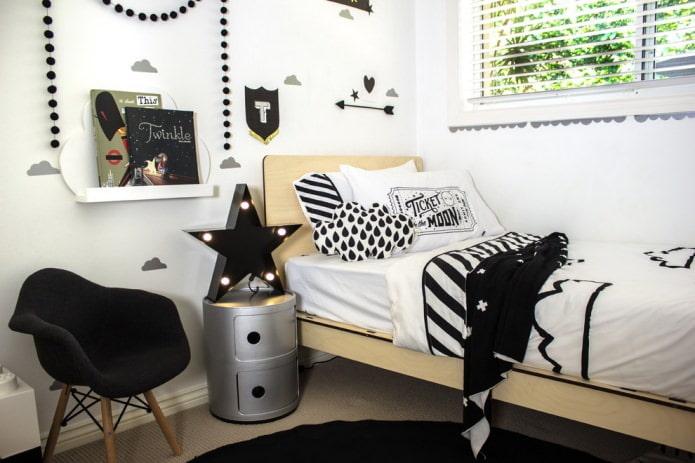chambre scandinave pour un garçon