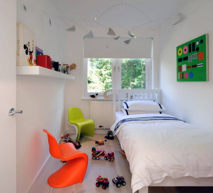 chambre pour un garçon en blanc