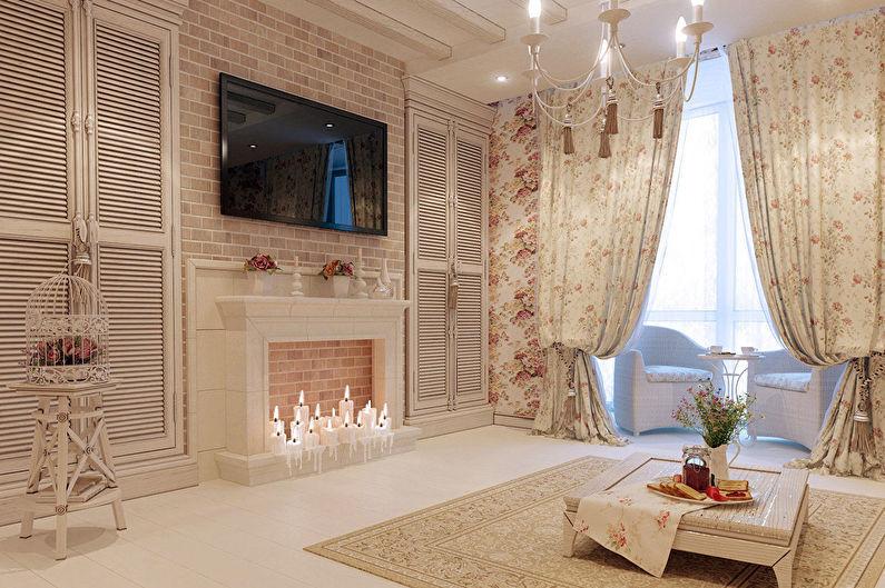 Conception de salon de style provençal