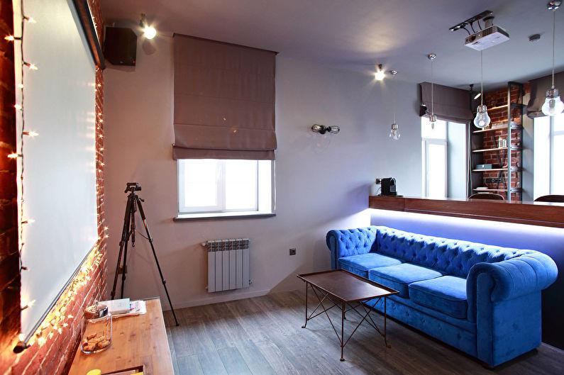 Conception de salon de style loft