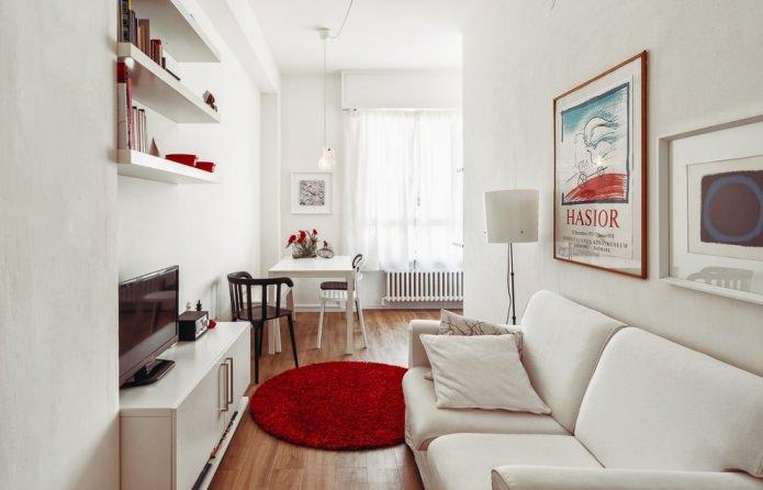 salon dans un petit appartement