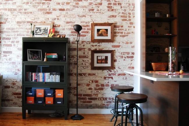 Papier peint à l'image de la maçonnerie - une caractéristique de l'intérieur dans le style loft