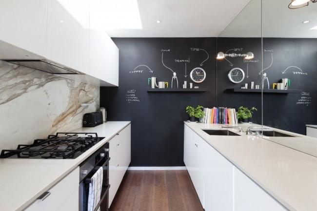 Papier peint de cuisine avec une fonctionnalité intéressante: vous pouvez y laisser des notes