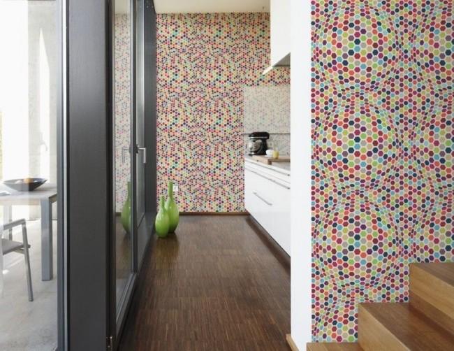 Papier peint pour la cuisine qui crée l'illusion de volume