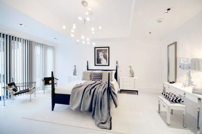 chambre aux murs parfaitement blancs sans décor