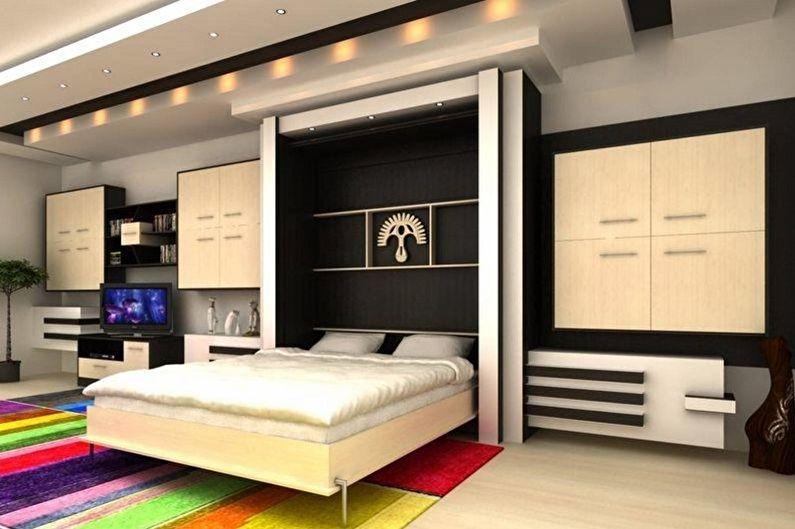 Types de lits doubles par type de design - Lit double-armoire