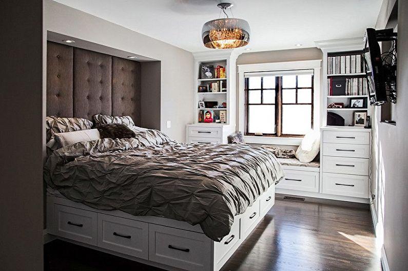Types de lits doubles par conception - Lit double avec niches gigognes