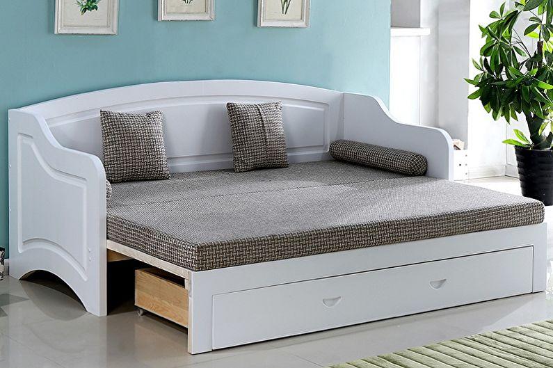 Types de lits doubles par type de conception - Canapé-lit double