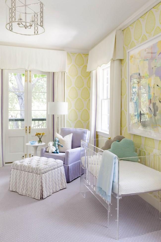 Les pastels aux nuances ensoleillées conviennent à la chambre d'un enfant