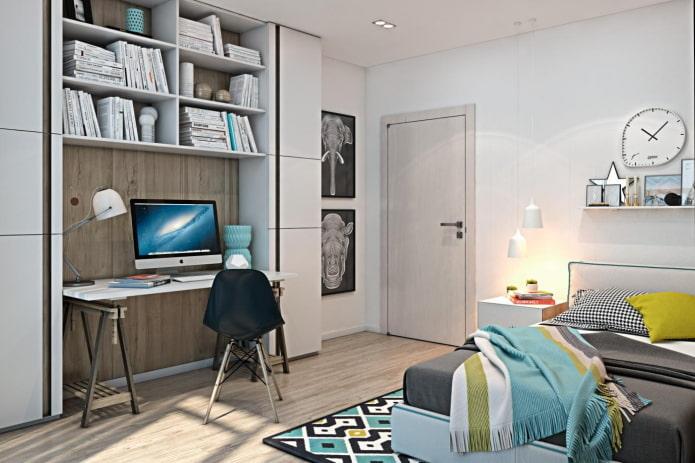 jeu de couleurs d'une chambre pour un adolescent