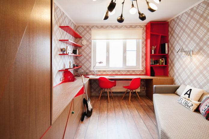 conception d'une petite chambre pour un adolescent