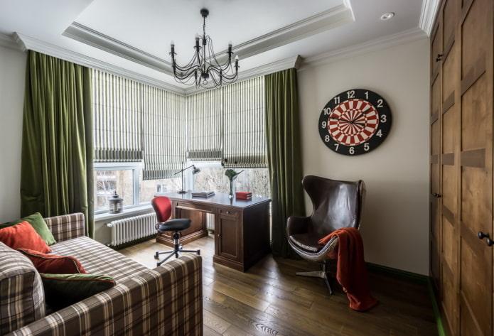 décoration textile d'une chambre pour un adolescent