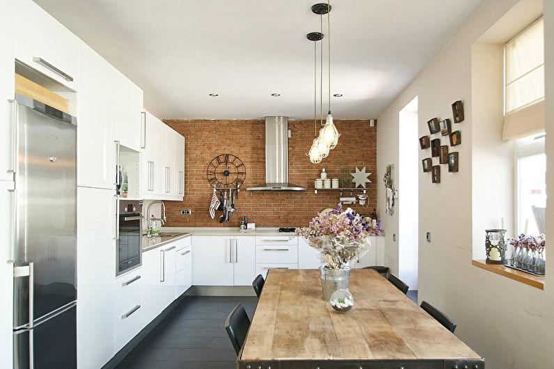 Cuisine de style loft blanc - photo