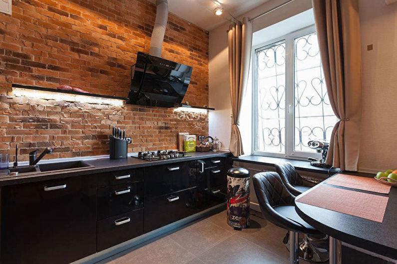 Cuisine de style loft noir - photo