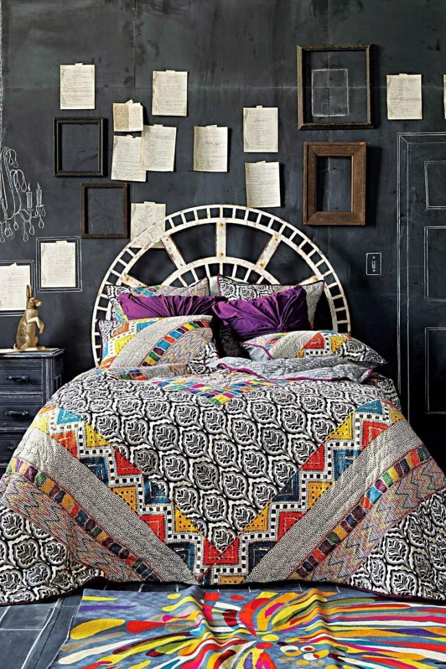 Couvre-lit composé de différents morceaux de tissu