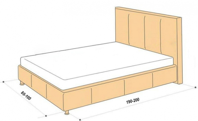 tailles de lit simple