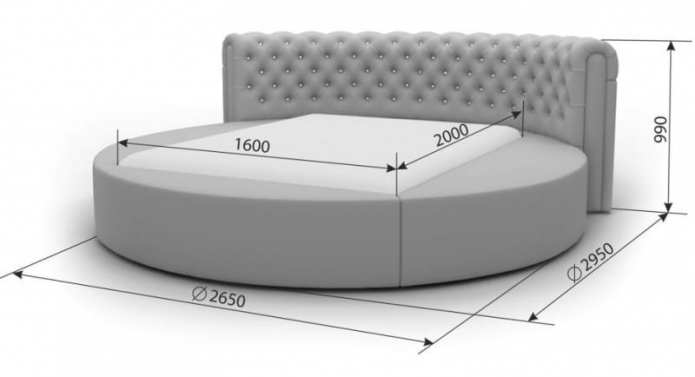 tailles de lit rondes