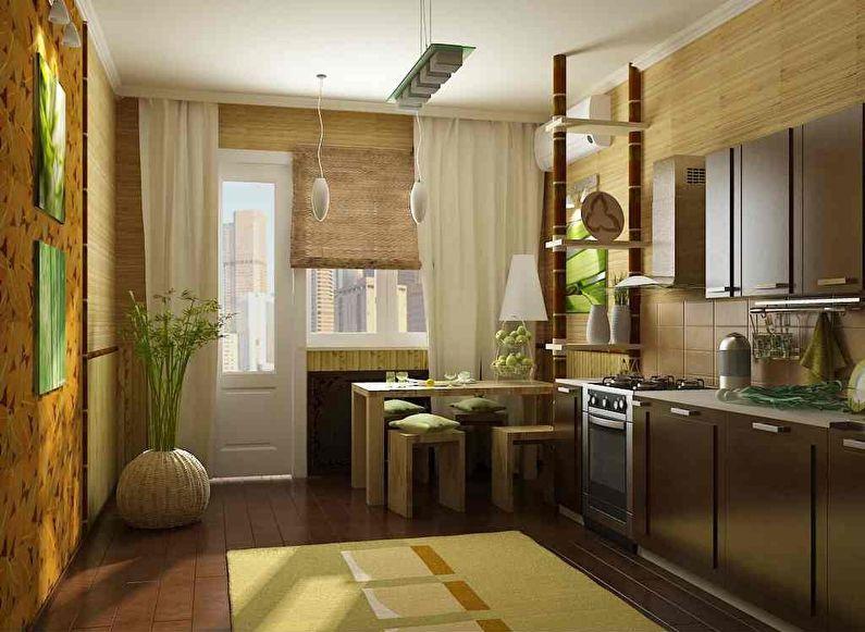 Papier peint en bambou pour la cuisine