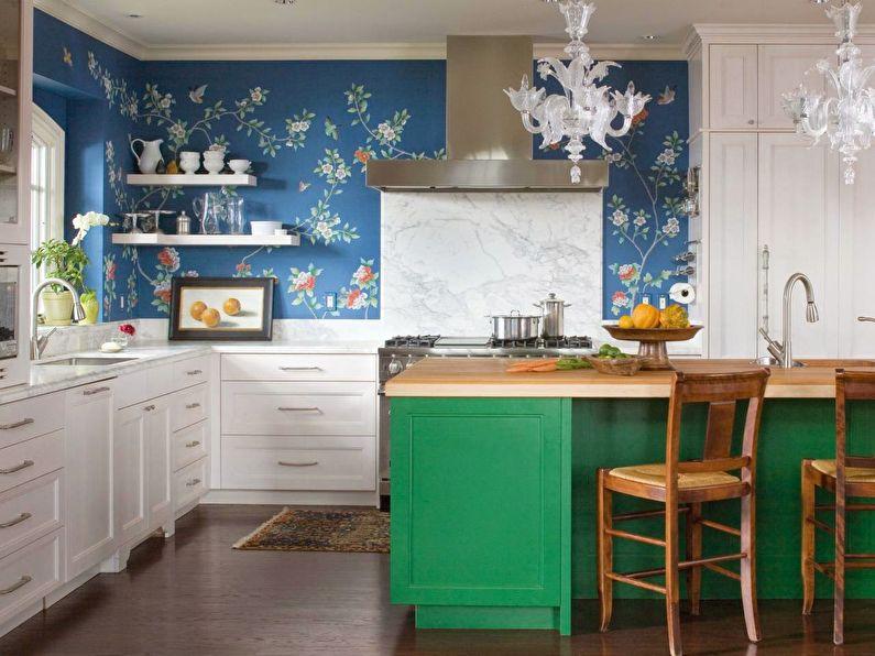 Papier peint pour la cuisine dans un style classique