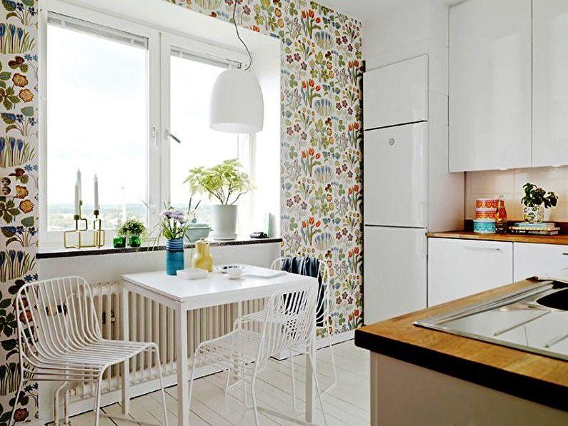 Papier peint pour la cuisine de style scandinave