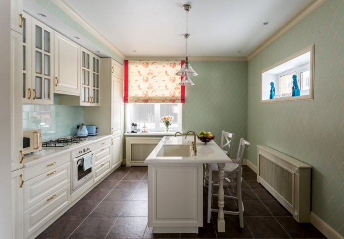murs lisses dans la cuisine