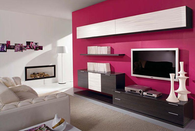 Comment choisir un mur pour un salon dans un style moderne