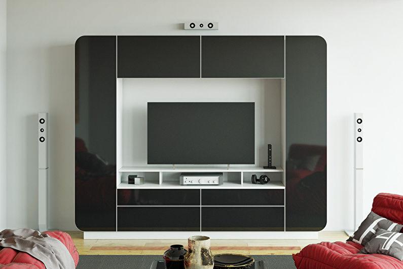 Mini mur de salon moderne