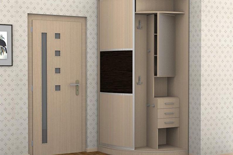 Armoires d'angle pour le couloir