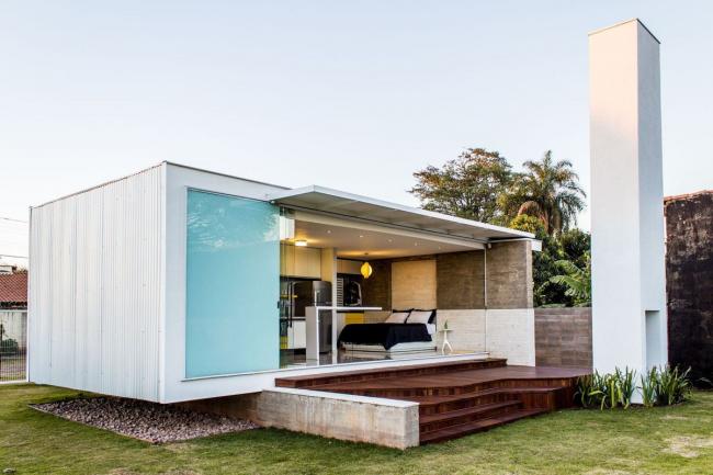 Le conteneur maritime est parfait pour la construction d'une maison d'hôtes