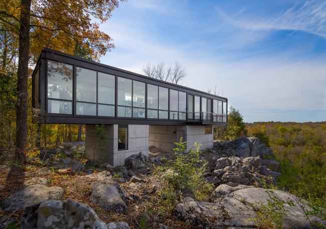 Magnifique maison conteneur avec baies vitrées