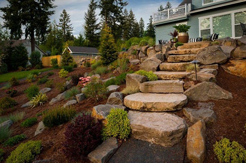 Toboggan alpin DIY - Types de rocailles