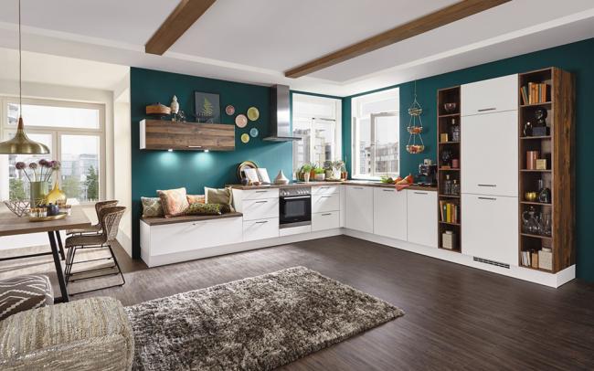 Une solution populaire aujourd'hui consiste à combiner la cuisine avec le salon.