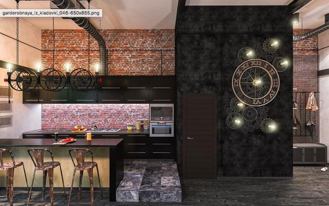 Une solution originale pour une cuisine steampunk - une horloge à engrenages volumétriques