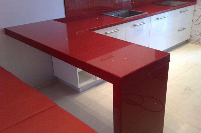 Bar de cuisine en acrylique