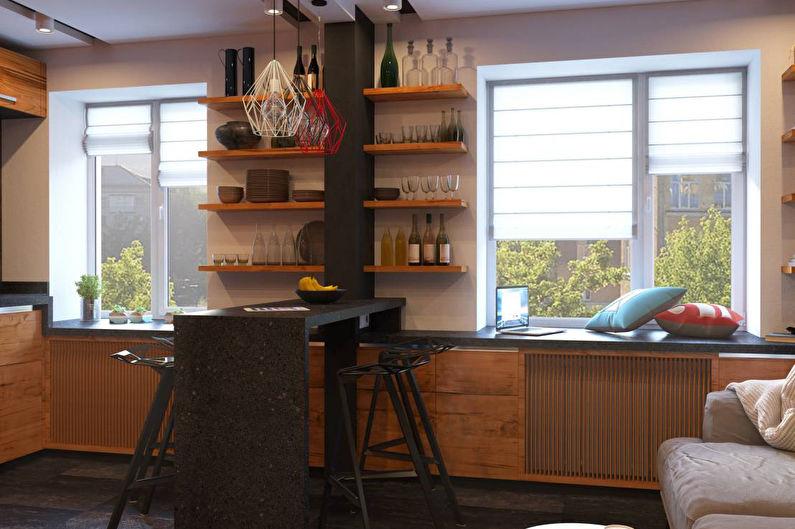Contre-cloison de bar pour la cuisine