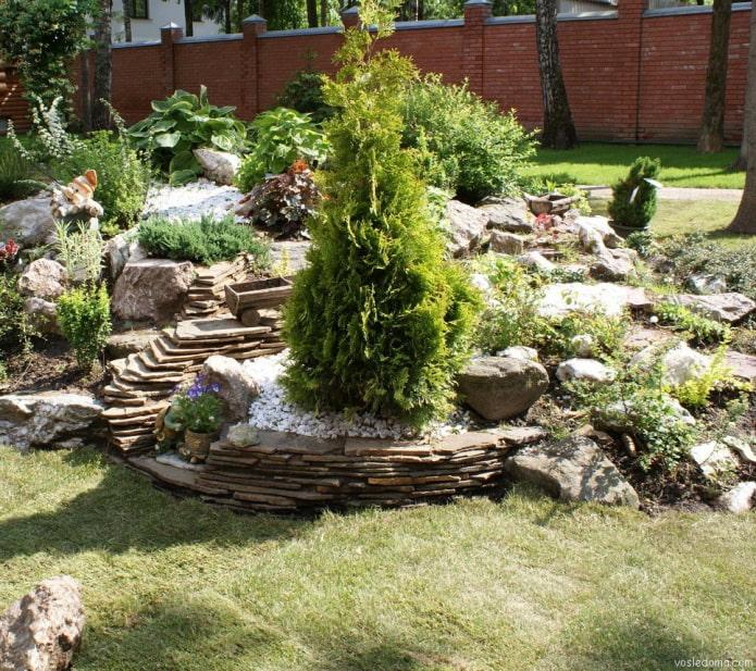 jardin de rocaille d'ardoise