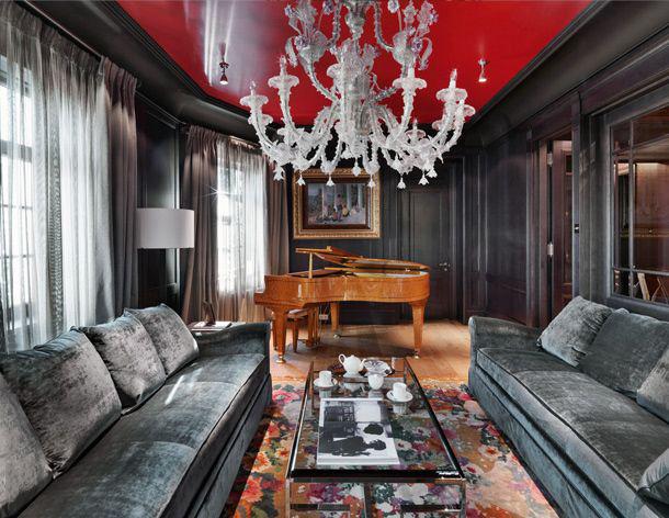Rouge et noir - une combinaison classique dans la décoration intérieure