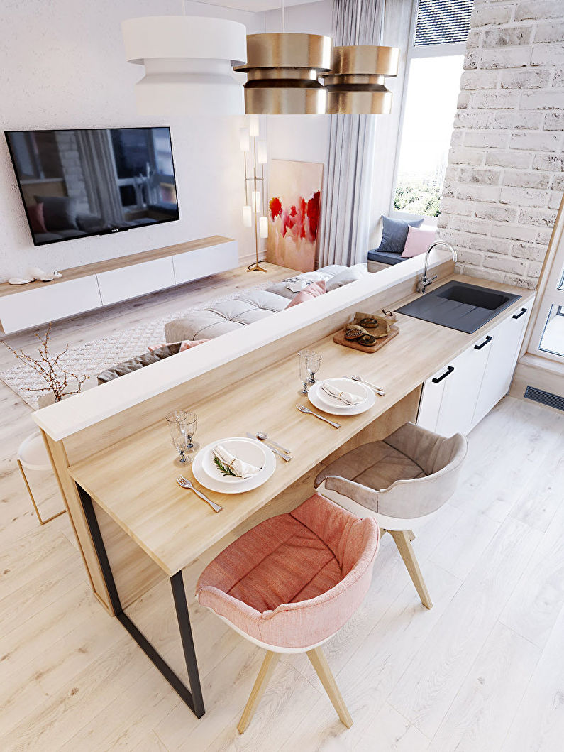 Zonage cuisine-salon - Mobilier