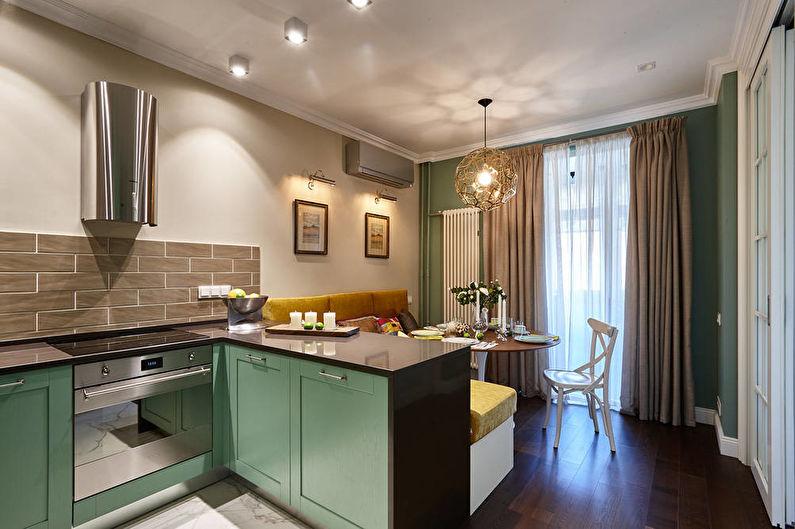 Conception de cuisine-salon dans un petit appartement - Proportions