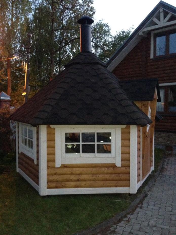 grill house dans le jardin