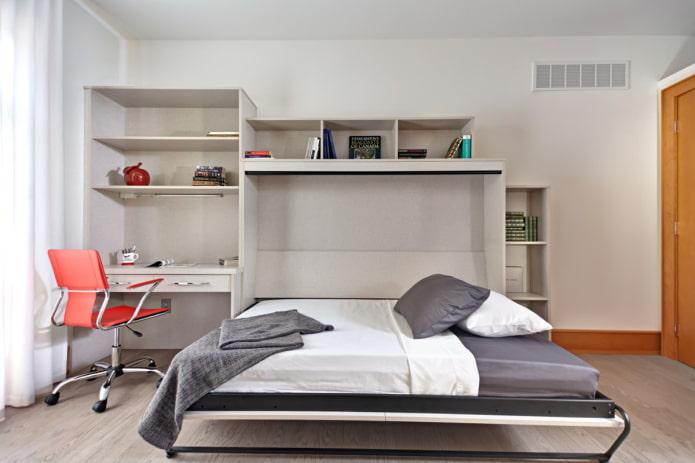 modèle double intégré dans les meubles à l'intérieur