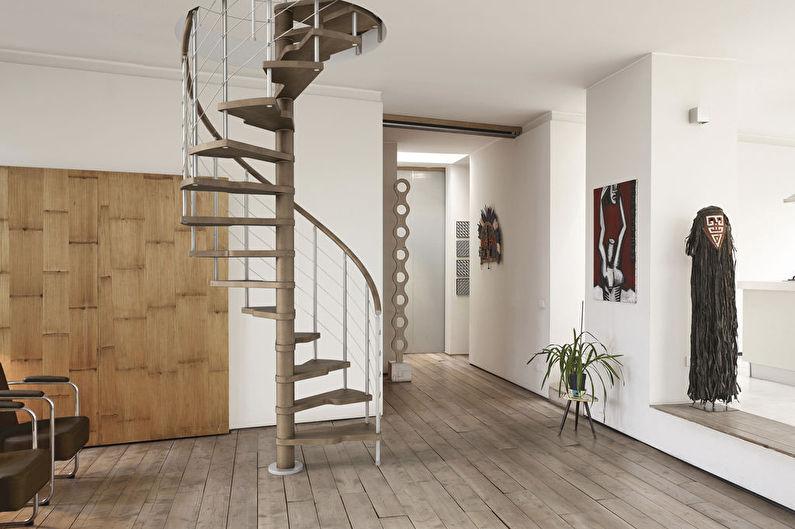 Escaliers en colimaçon au deuxième étage