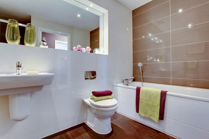 conception de salle de bain dans un style moderne