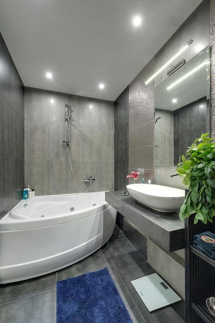 intérieur de la salle de bain dans un style moderne