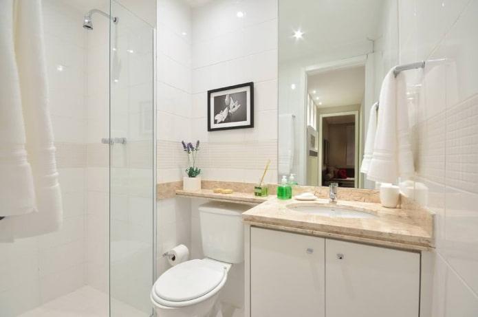 Conception de petite salle de bain dans un style moderne